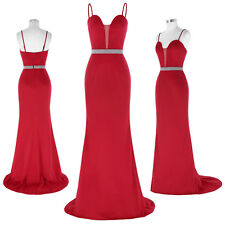 LONG Spaghetti Straps Formal Evening Prom Ball Gown Party Bridesmaid Dress Sexy
