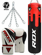 RDX Leather UnFilled Punching Bag Boxing Bag Gloves MMA Training Kicking Box CA