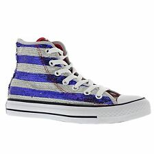 Converse Chuck Taylor Hi Silver Womens Trainers