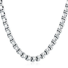 Stainless Steel Box Link Chain Necklace Fashion Mens' Jewelry Set 18-30inch 7MM
