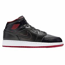 Nike Air Jordan 1 Mid BG Black Youths Trainers