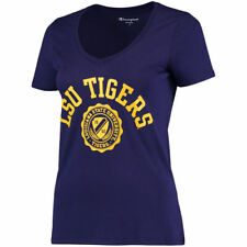 Champion LSU Tigers Women's Purple College Seal V-Neck T-Shirt - College