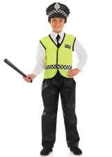 Childrens Size Boys Policeman Costume
