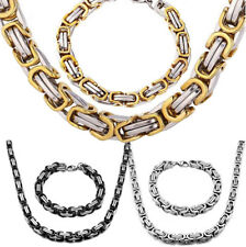 6mm Unisex's Men Chain Silver/Gold/Black Tone Stainless Steel Punk Link Necklace
