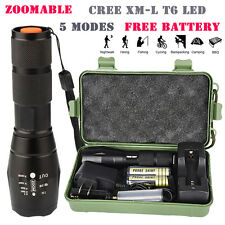 Zoomable CREE XML-T6 LED 18650/26650/AAA Rechargeable Flashlight Torch Tactical