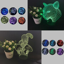 Colorful Changing LED Night Light Lamp Home Room Party Desk Decor Visual Lamp TH