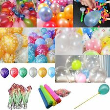 Pearl Dot Latex Balloons Water Bombs Holders Stick LED For Wedding Party Decor