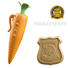 Zootopia Disney Officer Judy Hopps Carrot Recorder Voice Badge Movie Kids Toys