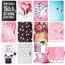 For iPad Galaxy Tab Magnetic tablet case PU leather flip case cartoon stand TPU