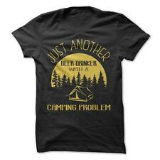 Beer Drinker With A Camping Problem - Funny T-Shirt 100% Cotton Alcohol Funny