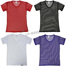 Mens Sexy Sheer Mesh See Through Clubwear Tank Vest Shirt Undershirt Sweatshirt