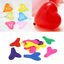 200pcs Colorful Heart Shaped Latex Balloons Wedding Birthday Party Decoration QW