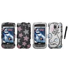 For LG Optimus S LS670 Diamond Diamante Bling Rhinestone Case Cover Stylus Pen