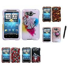 For HTC Inspire 4G Design Snap-On Hard Case Phone Cover Stylus Pen