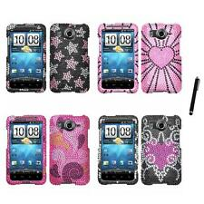 For HTC Inspire 4G Diamond Diamante Bling Rhinestone Case Cover Stylus Pen