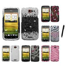 For HTC One S Diamond Diamante Bling Rhinestone Case Cover Stylus Pen