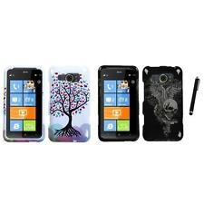 For HTC Titan II Design Snap-On Hard Case Phone Cover Stylus Pen