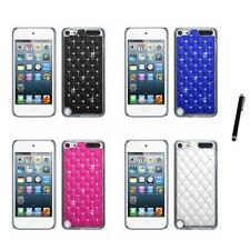 For iPod Touch 5th 6th Gen Executive Hard Case Diamonds Phone Cover Stylus Pen