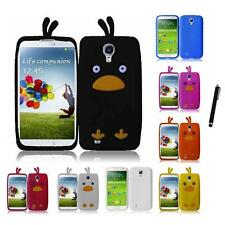 For Samsung Galaxy S4 Silicone Skin Soft Rubber Case Phone Cover Stylus Pen