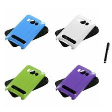 For HTC Evo 4G Hybrid Rugged Impact Hard Soft Case Phone Cover Stylus Pen