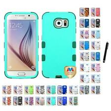For Samsung Galaxy S6 Hybrid TUFF IMPACT Phone Case Hard Rugged Cover Stylus Pen