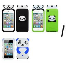 For Apple iPod Touch 4th Gen Silicone Design Skin Soft Phone Case Stylus Pen
