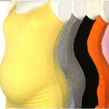 Maternity Women Spaghetti Strap Vest Tops Sleeveless Vest Tank Tops T shirts