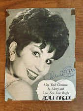 Authentic ALMA COGAN Autograph 1963 ATV Studios at Thank Your Lucky Stars