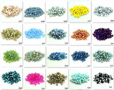 (80 Color)200pcs bicone crystal glass 5301# 4mm  loose spacer Jade Beads