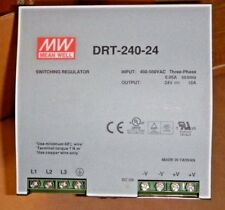 MEAN WELL DRP-240-24 AC to DC DIN-Rail Power Supply, 24V, 10 Amp, 240W, 1.5""