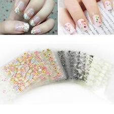 Lots 30/50PCS Mixed Flower Design 3D Nail Art Water Transfer Decals Stickers