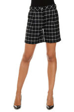 WOOLRICH New woman black Checked Wool Bermuda Shorts Pants Made in Italy