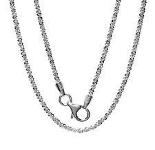"""925 Sterling Silver Serpentine Chain Necklace for Pendant 16"""",18"""",20"""",24"""" Italy"""
