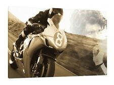 # 8 of 100 - Guy Martin 30x20 Inch Canvas - Isle of Man TT Framed Picture Print