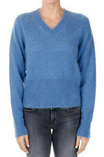 JIL SANDER New woman blue Mohair blend Sweater Pullover Made in Italy