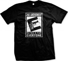 Gun Control T Shirt 2nd Amendment Rated E For Everyone Weapon Rifle AR15 Protect