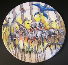 Rhino BOPLA Porcelain Safari Yellow Large Plate 10 5/8in Meat Dishes Dinner