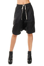 RICK OWENS DRKSHDW New Woman Black Bermuda Shorts Pants POD Made In Italy