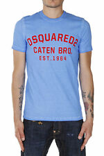 DSQUARED2 Dsquared² Men T-shirt DEAN&DAN Round Neck in Cotton Made in Italy NWT