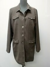 DIALOGUE Black Long Sleeves Solid Lined Button Front Jacket Coat Sz 12 #613