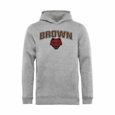 Brown Bears Youth Ash Proud Mascot Pullover Hoodie