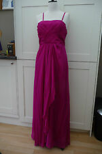 Monsoon Full-length Hot Pink Dress, Beaded Bodice, Prom, Ball, size 8 BNWT