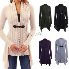 Fashion Women Ladies Cardigan Crochet Knitted Long Sleeve Braid Outwear Sweater