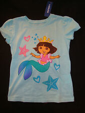 OLD NAVY /  DORA THE EXPLORER   GRAPHIC TEE SHIRT MERMAID DORA