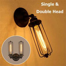New 1/2 Heads Industrial Retro Vintage Wall Light Sconce Lamp Bulb Indoor Light