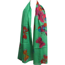 Indian Gauze Cotton Butterfly Long Scarf Sarong Shawl
