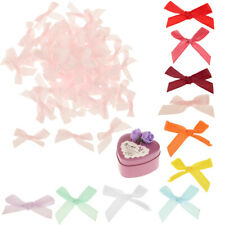 100pcs Mini 30mm Ribbon Bowtie Gift Scrapbook Wedding Candy Box DIY Decor Craft