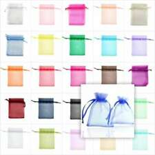 50/100/200pcs Organza Gift Bags Wedding Favor Jewelery Candy Pouches 17x23cm
