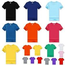 Men Women Unisex Cotton Couples T Shirt Lovers Short Sleeve Casual Solid Pattern