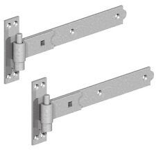 """Straight Heavy Duty Hook & Band Gate Hinges Galvanised Shed Stable Door 8""""-36"""""""